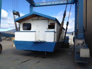 The punt when it first arrived at CleanLIFT